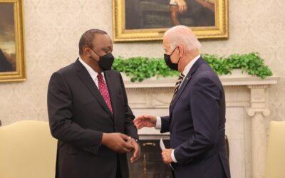 Rais Uhuru Kenyatta guceemania na Rais wa America Joe Biden.